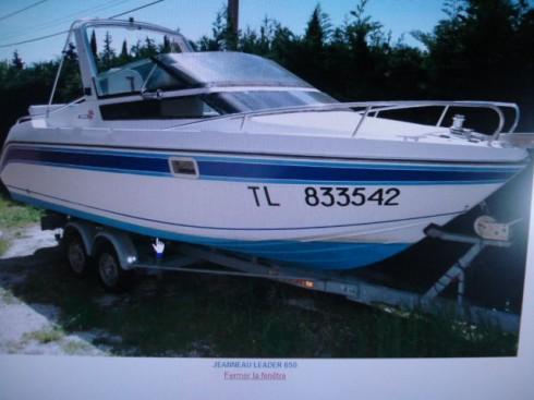 bateau moteur occasion jeanneau habitable leader 650 21. Black Bedroom Furniture Sets. Home Design Ideas