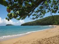 Une plage à Basse-Terre en Guadeloupe, aux Antilles mer des Caraïbes !